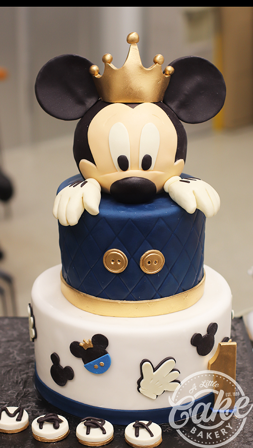 Superb Mickey 1St Birthday Cake Personalised Birthday Cards Veneteletsinfo