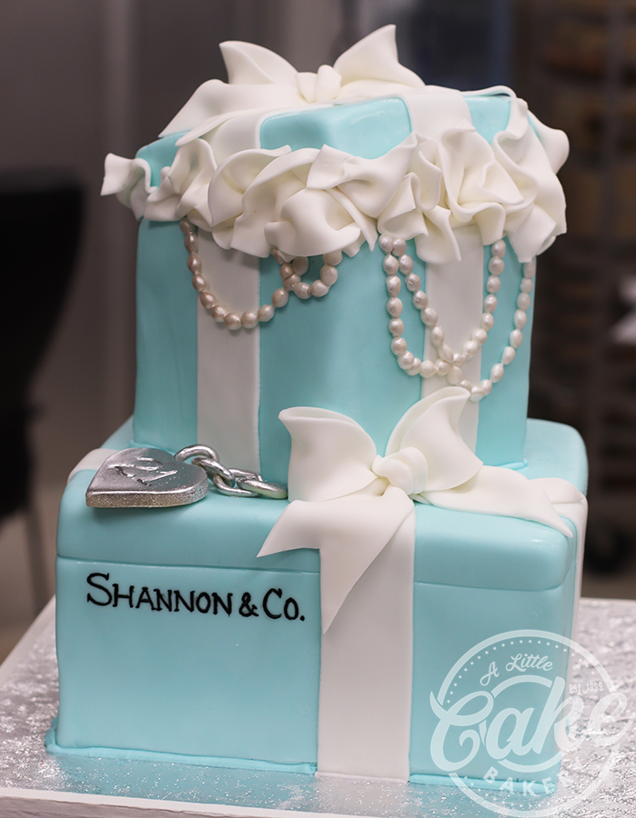 Brilliant Tiffany Box Bridal Shower Cake Tiffany Box Birthday Cake Funny Birthday Cards Online Fluifree Goldxyz