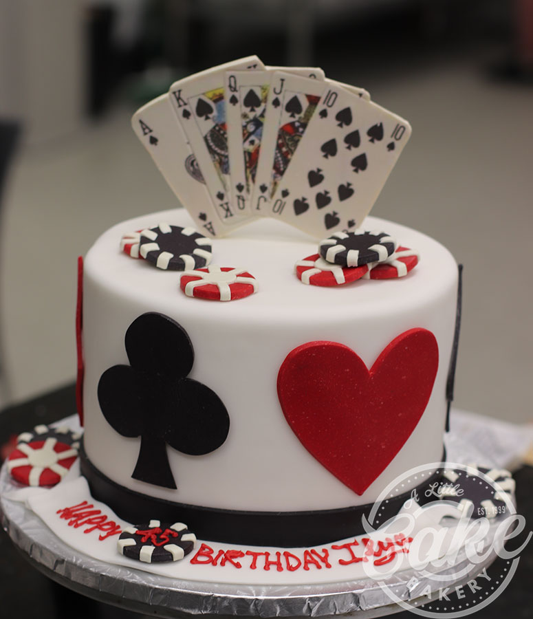 Marvelous 1 Tier Casino Themed Birthday Cake Funny Birthday Cards Online Unhofree Goldxyz