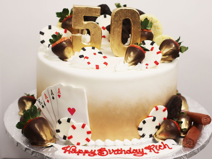 Outstanding 50Th Birthday Casino Themed Birthday Cake Funny Birthday Cards Online Fluifree Goldxyz
