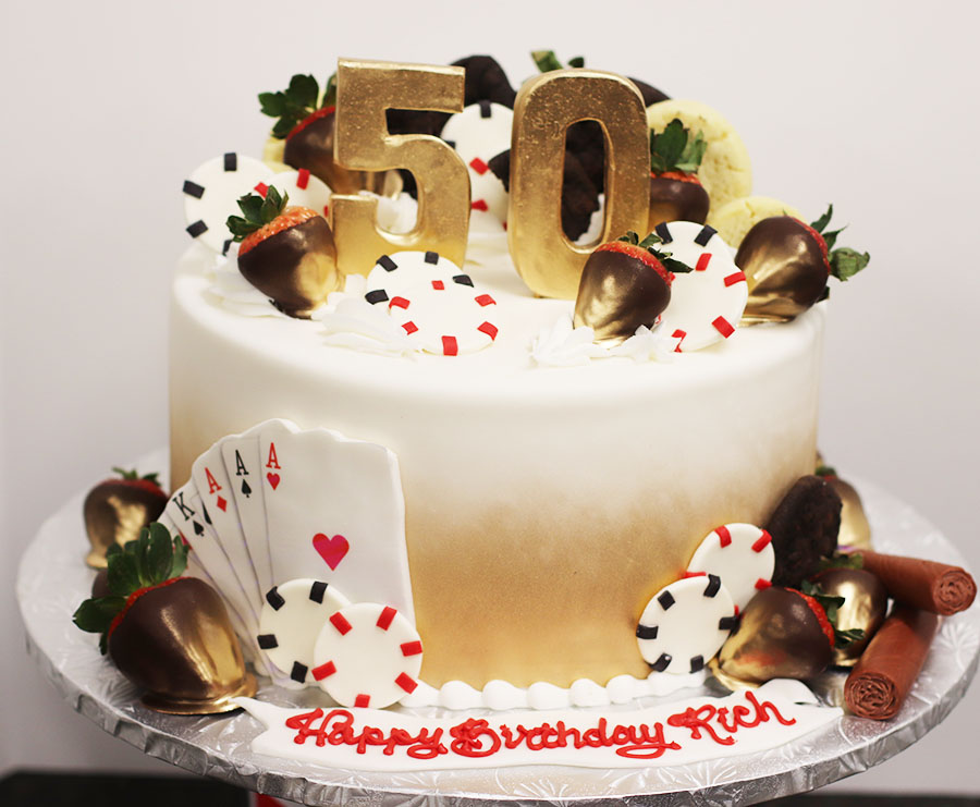 Astonishing 50Th Birthday Casino Themed Birthday Cake Funny Birthday Cards Online Barepcheapnameinfo
