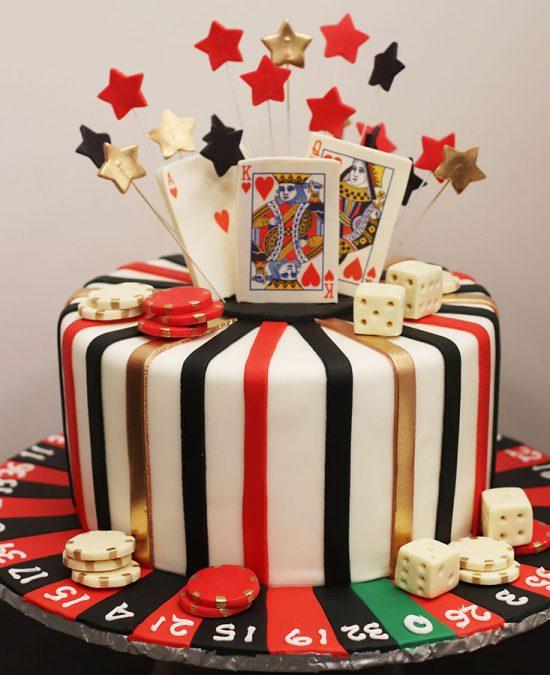 Stupendous 50Th Birthday Casino Themed Birthday Cake Personalised Birthday Cards Petedlily Jamesorg