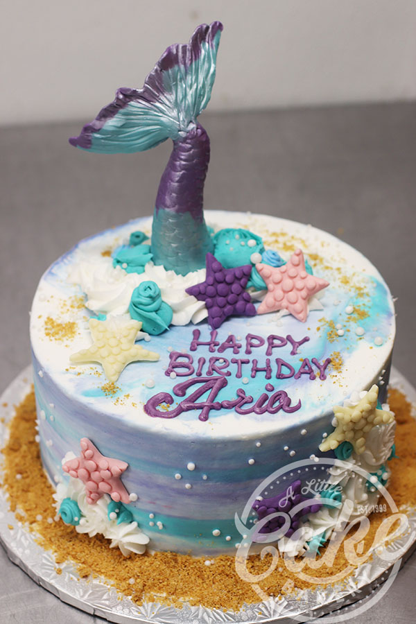 Peachy Water Color Cake And Mermaid Tail Birthday Cake Funny Birthday Cards Online Fluifree Goldxyz