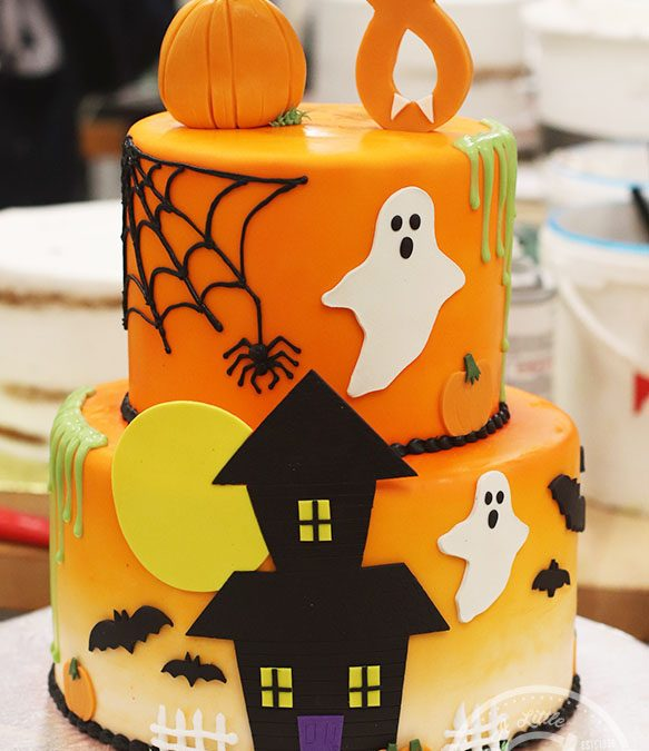 Incredible Cute Halloween Themed 8Th Birthday Cake Funny Birthday Cards Online Barepcheapnameinfo