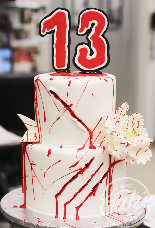 Super Friday The 13Th Themed Birthday Cake Funny Birthday Cards Online Eattedamsfinfo