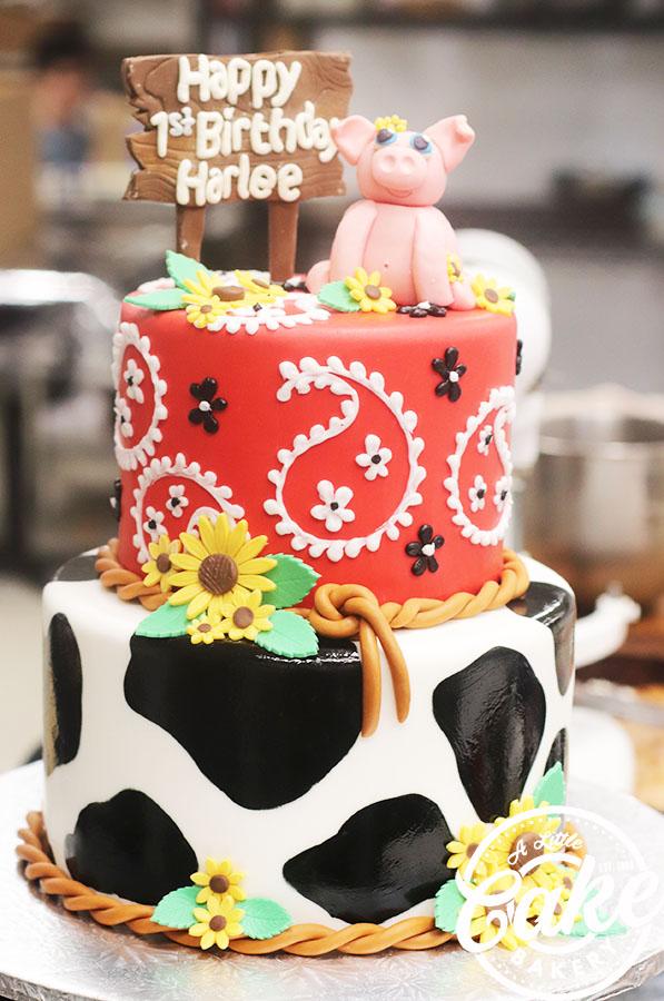 Terrific Cowgirl First Birthday Cake Personalised Birthday Cards Bromeletsinfo