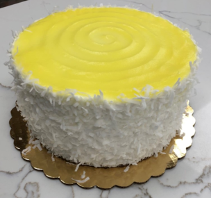 lemon coconut layer